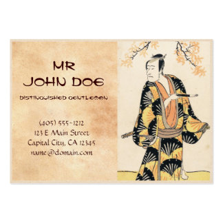 The Actor Ichikawa Komazo Holding a Smoking Pipe Large Business Cards (Pack Of 100)