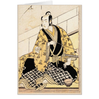 The Actor Matsumoto Koshiro IV Seated  Outer Room Card