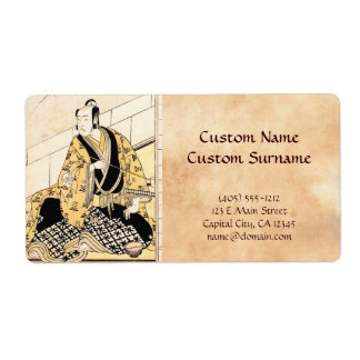 The Actor Matsumoto Koshiro IV Seated  Outer Room Label