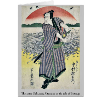 The actor Nakamura Utaemon in the role of Mitsugi Greeting Card