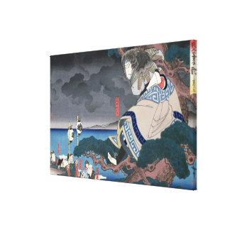 The actor Nakamura Utaemon IV Canvas Print