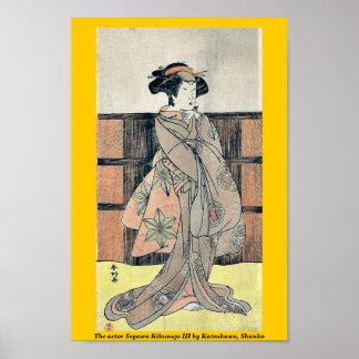 The actor Segawa Kikunojo III by Katsukawa, Shunko Print