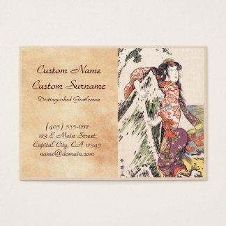 The Actor Segawa Kikunojo III in a Female Role Business Card