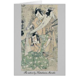 The actors by Katsukawa,Shunsho Greeting Card