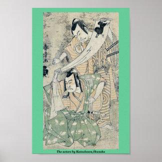 The actors by Katsukawa,Shunsho Poster
