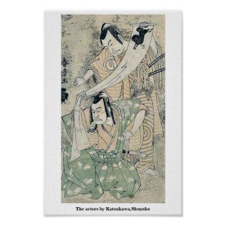 The actors by Katsukawa,Shunsho Print