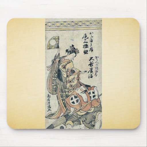 The actors by Torii,Kiyomitsu Mouse Pad