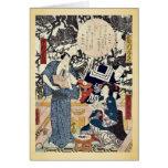 The actors by Utagawa,Toyokuni Card