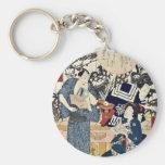 The actors by Utagawa,Toyokuni Keychains