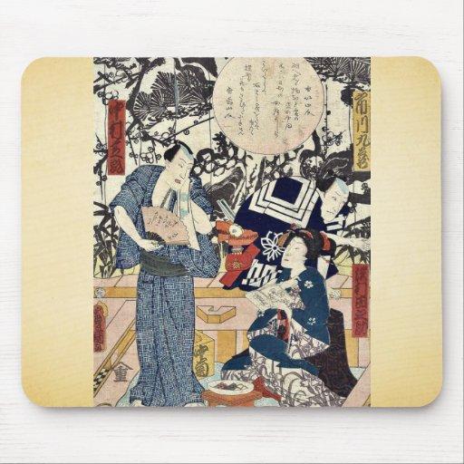 The actors by Utagawa,Toyokuni Mouse Pad