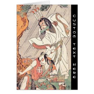 The Actors Ichimura Uzaemon IX in the Role of Ko-k Greeting Cards