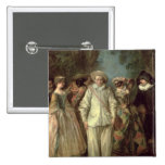 The Actors of the Commedia dell'Arte Pinback Buttons