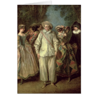 The Actors of the Commedia dell'Arte Greeting Cards