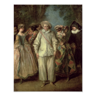 The Actors of the Commedia dell'Arte Poster