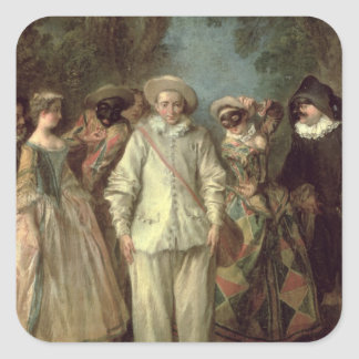 The Actors of the Commedia dell'Arte Square Sticker