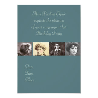 The Actresses #1 5x7 Paper Invitation Card