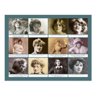 The Actresses Postcard