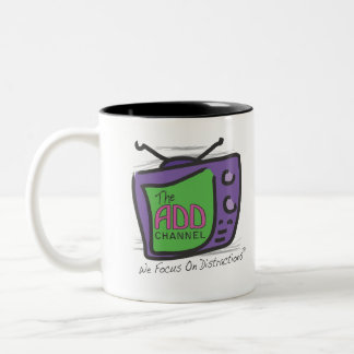 The ADD Channel - We Focus On Distractions Two-Tone Coffee Mug