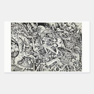 The Adept, by Brian Benson Rectangular Sticker