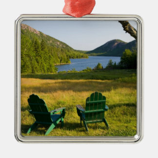 The Adirondack Chairs on the lawn of the Jordan Metal Ornament