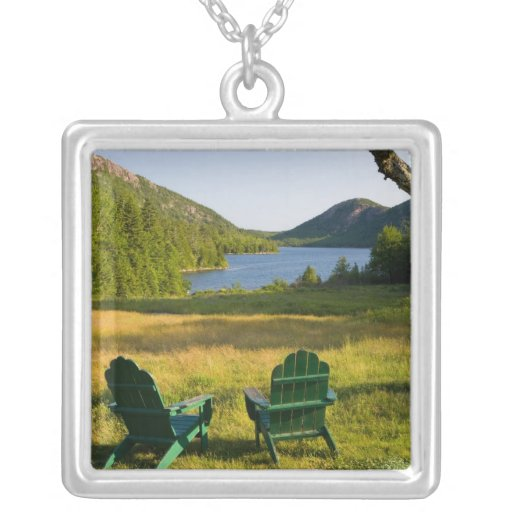 The Adirondack Chairs on the lawn of the Jordan Personalized Necklace