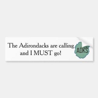 The Adirondacks are Calling Bumper Sticker