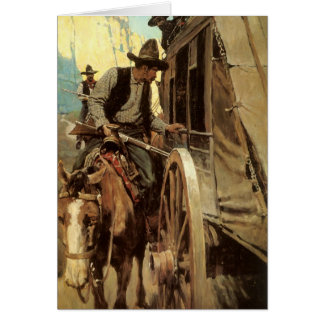 The Admirable Outlaw by NC Wyeth, Vintage Cowboys Greeting Cards