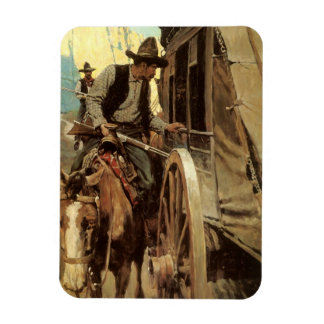 The Admirable Outlaw by NC Wyeth, Vintage Cowboys Magnet