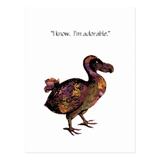 The Adorable Dodo Postcard Postcard