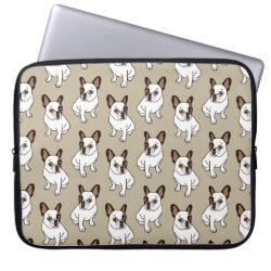 The Adorable Fawn Pied Frenchie Computer Sleeve