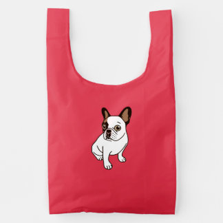 The Adorable Fawn Pied Frenchie Reusable Bag
