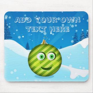 The adorable toon christmas ball mousepad