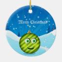The adorable toon christmas ball ornament
