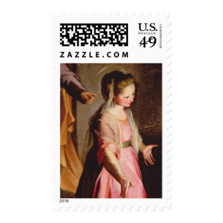 The Adoration of the Child, 1597 Postage Stamp