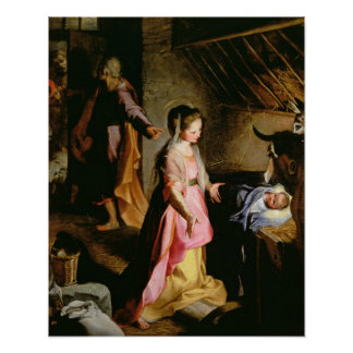 The Adoration of the Child, 1597 Poster