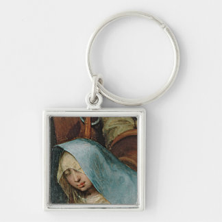 The Adoration of the Kings, 1564 2 Silver-Colored Square Keychain