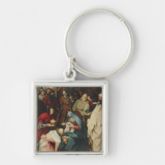 The Adoration of the Kings, 1564 Silver-Colored Square Keychain