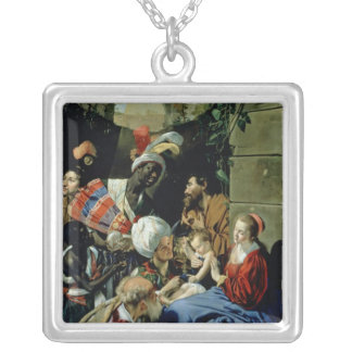 The Adoration of the Kings, 1612 Silver Plated Necklace