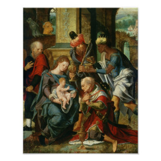 The Adoration of the Magi, 1530 Poster