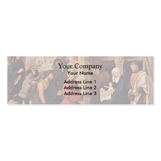 The Adoration of the Magi by Gerard David Business Card Templates