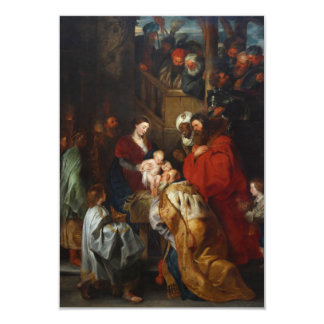 The Adoration of the Magi by Peter Paul Rubens Card