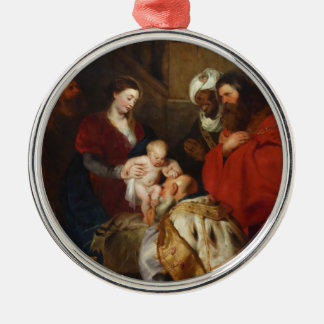 The Adoration of the Magi by Peter Paul Rubens Metal Ornament