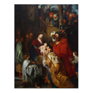 The Adoration of the Magi by Peter Paul Rubens Post Card