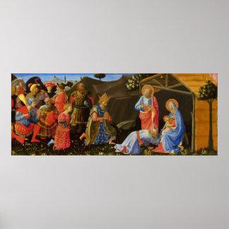 The Adoration of the Magi by Zanobi Strozzi Print