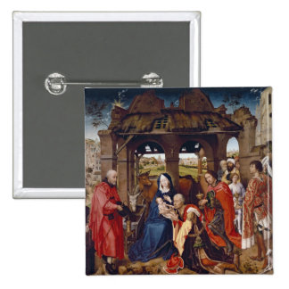The Adoration of the Magi, c.1455 Pinback Button