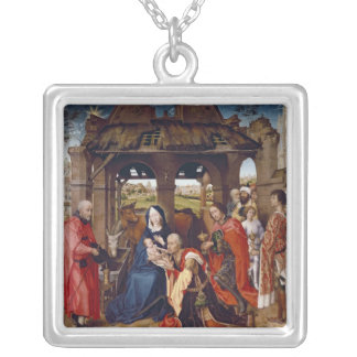 The Adoration of the Magi, c.1455 Silver Plated Necklace