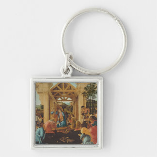 The Adoration of the Magi, c.1478-82 Silver-Colored Square Keychain