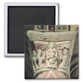 The Adoration of the Magi, column capital (stone) Magnet