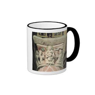 The Adoration of the Magi, column capital (stone) Ringer Coffee Mug