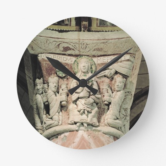 The Adoration of the Magi, column capital (stone) Round Clock